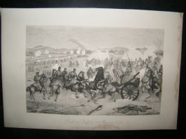 Military 1884 Franco Prussian War Print. Battle of Belfort